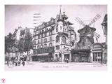 1898 Façade du Moulin Rouge. Giclee Print