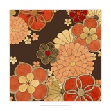 Cascading Blooms in Tangerine II Prints by Erica J. Vess
