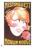1925 Mistinguett (yellow) Giclee Print by Charles Gesmar