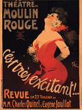 1911 Moulin Rouge Cest Tr&#232;s Excitant Giclee Print by Jules-Alexandre Gr&#252;n