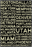 National Basketball Association Cities Vintage Style Poster