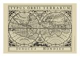 Vintage Map on Khaki I Reprodukcje autor Vision Studio