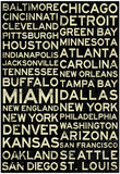 National Football League Cities Vintage Style Posters