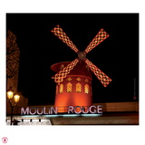 2010 Moulin at night Photographic Print