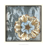 Rosette with Leaves I Posters by Jennifer Goldberger