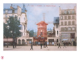 1904 Carte Postal Moulin Rouge Giclee Print