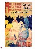 1891 Moulin Rouge La Goulue (3 bandes) Giclee-trykk av Henri de Toulouse-Lautrec