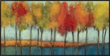 Lollipop Trees Framed Canvas Print by Asia Jensen