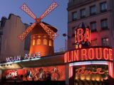 2010 Moulin Rouge night fall Photographic Print