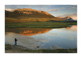 Fishing The Green At Sunset Giclee Print by Donald Paulson