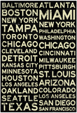 Major League Baseball Cities Vintage Style Prints