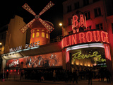 2010 Moulin Rouge at night Reproduction photographique