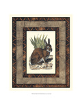 Rustic Rabbit Poster by  Vision Studio