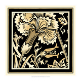 Neutral Floral Motif I Print by  Vision Studio
