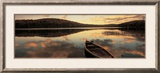 Water and Boat, Maine, New Hampshire Border, USA Framed Photographic Print by  Panoramic Images