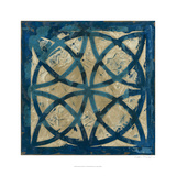 Stained Glass Indigo IV Kunst von Megan Meagher