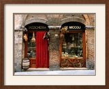 Bicycle Parked Outside Historic Food Store, Siena, Tuscany, Italy Framed Photographic Print by John Elk III