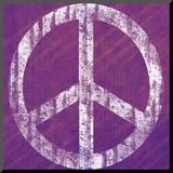Purple Peace Monterat tryck av Louise Carey