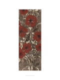 Poppies on Damask II Posters by Jennifer Goldberger