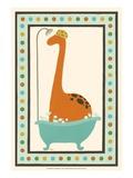 Rub-A-Dub Dino I Print by Erica J. Vess