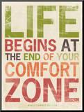 Życie, angielski Umocowany wydruk autor Stephanie Marrott