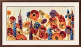 Joyful Garden Framed Giclee Print by Silvia Vassileva