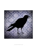 Crow and Damask Posters by  Vision Studio