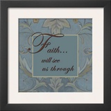 Tapestry Flowers, Faith Posters by Sara Anderson