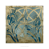 Stained Glass Indigo III Giclee Print by Megan Meagher
