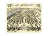Formal Garden View II Poster von Erich Dahlbergh