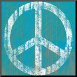 Blue Peace Monterat tryck av Louise Carey