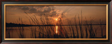 Lake Travis at Sunset, Austin, Texas Framed Photographic Print by  Panoramic Images