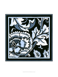 Blue and White Floral Motif III Poster von  Vision Studio