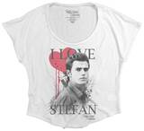 Juniors: The Vampire Diaries - I Heart Stefan (Dolman) T-Shirt