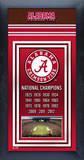 Alabama Crimson Tide Championship Banner Framed Memorabilia