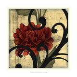 Dahlias and Scrolls I Prints by Jennifer Goldberger