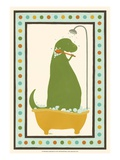 Rub-A-Dub Dino II Kunstdrucke von Erica J. Vess