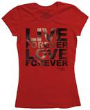 Juniors: The Vampire Diaries - Live Forever Shirts