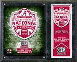 Alabama Crimson Tide 2012 Championship Plaque Framed Memorabilia