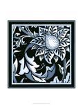 Blue and White Floral Motif II Affiches par  Vision Studio