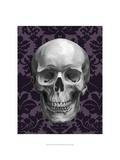 Skull on Damask Prints by Ethan Harper