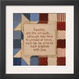 Family Quilts Poster by Karen Tribett