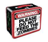 Zombie Warning Embossed Tin Lunch Box Lunch Box