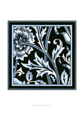 Blue and White Floral Motif IV Posters por  Vision Studio