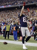 Houston Texans and New England Patriots NFL: Aaron Hernandez Photographic Print by Elise Amendola