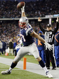 Indianapolis Colts and New England Patriots NFL: Rob Gronkowski Photographic Print by Michael Dwyer