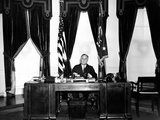 President Franklin Roosevelt at His Desk in the Oval Office, Dec 31, 1934 Photographic Print
