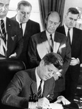 Pres John Kennedy Signs Bill Allowing US to Purchase Half of the United Nations $200 Million Bonds Posters