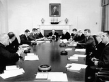 President John Kennedy Meets with His Cabinet Photo