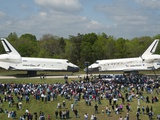 Space Shuttles Enterprise(Left) and Discovery Nose-To-Nose Photographic Print